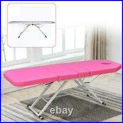 182 cm Folding Massage Table Bed Therapy Beauty 3 Sections Couch Salon Spa UK