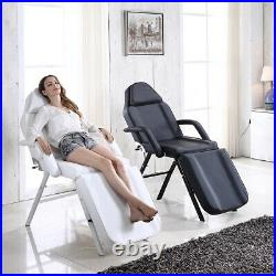 2 Color cliner Beauty Salon Bed Massage Table Tattoo Spa Couch Chair With Stool UK