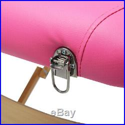 2 Way Lightweight Portable Folding Massage Bed Beauty Salon Couch Table Pink
