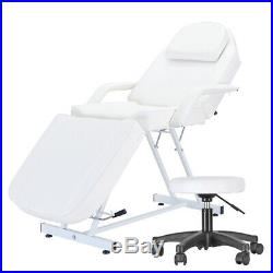 2 Way Lightweight Portable Folding Massage Bed Beauty Salon Couch Table White UK