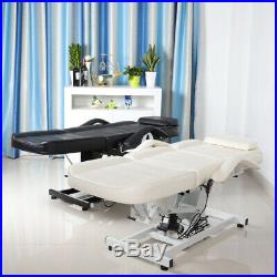 3Section Beauty Couch Bed Electric Massage Bed Leather Padded Adjustable Spa Bed