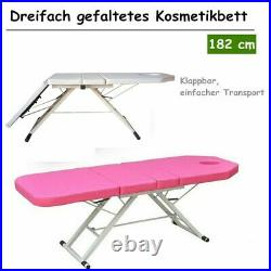 3-Fold Massage Table Beauty Bed Massage Therapy Couch Facial SPA 60cm182cm UK