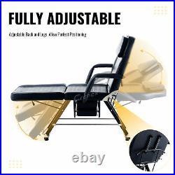 3 Section Massage Sofa Bed w Headrest Armrests Drawers & Chair for Home Salon