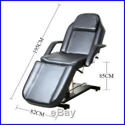 Adjustable Beauty Massage Bed Hydraulic Leather Reclining Spa Salon Couch Bed UK