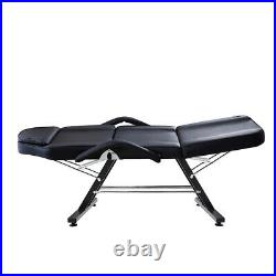 Adjustable Beauty Salon Massage Couch Bed Tattoo Facial Therapy Relaxing Black