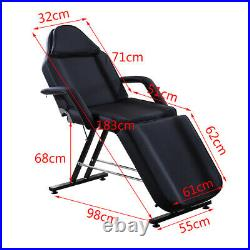 Adjustable Massage Chair Couch Bed & Stool Set Beauty Salon Table Tattoo Therapy