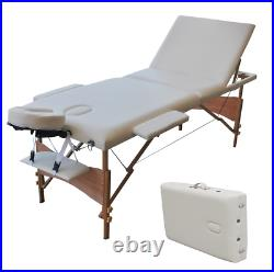Alu Foldable Massage Table Beauty Bed Tattoo Salon Waxing Facial SPA Care Couch