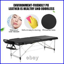 Aluminium Massage Table Spa Bed Portable Folding Salon Tattoo Therapy Couch Tool