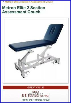 BNIB Metron Elite 2 Section T8716 Couch Physio Tattoo Treatment Bed £1,129 SAVE