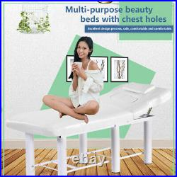 Beauty Bed Massage Table Facial Tattoo Salon Therapy Couch Recliner White UK