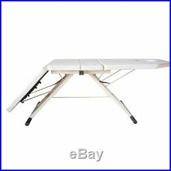 Beauty Bed Treament Couch Massage Table Recliner Stool Three-fold 182cm