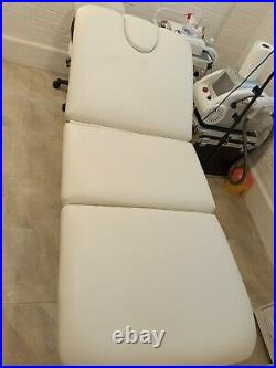 Beauty Couch Bed White Leather Electrical Recliner