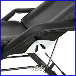Beauty Massage Chair Bed Reclining Facial Salon Therapy Table Tattoo Couch Black