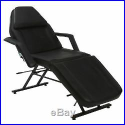 Beauty Massage Table Chair Salon Bed Tattoo Facial Reclining Couch Bed Black New