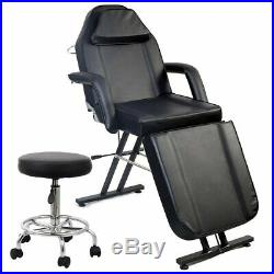 Beauty Massage Table Salon Chair Tattoo Facial Reclining Therapy Couch Bed&Stool