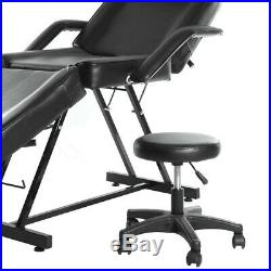 Beauty Salon Bed Chair Adjustable Massage Table Reclining Facial Spa Couch Stool