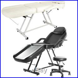 Beauty Salon Bed Chair Massage Table Reclining Facial Therapy Tattoo Couch Stool