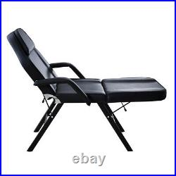 Beauty Salon Bed With Stool Tattoo Spa Treatment Massage Table Couch Chair Black