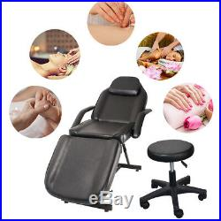 Beauty Salon Chair Balance Massage Table Tattoo Facial Couch Bed Recline WithStool
