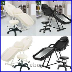 Beauty Salon Chair Bed Reclining Facial Therapy Massage Table Tattoo Couch+Stool