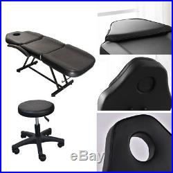 Beauty Salon Chair Massage Table Tattoo Reclining Facial Therapy Couch Bed Stool
