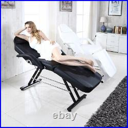 Beauty Salon Massage Bed Chair 3 Section Adjustable Tattoo Therapy Couch Stool