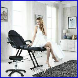 Beauty Salon Massage Table Bed Chair + Stool Adjustable Therapy Tattoo Couch Bed