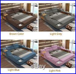 Bedroom set queen speaker massage sofa storage box king soft bed frame Mattress