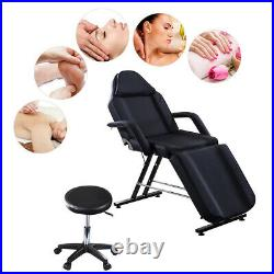 Black Beauty Salon Massage Table & Chair Facial Therapy Table Tattoo Couch Bed