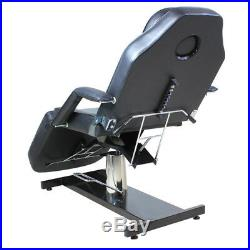 Black Massage Table Beauty Treatment Tattoo MedcicalChecking Couch Bed Hydraulic