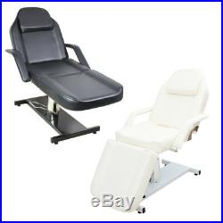 Deluxe 3 Section Hydraulic Recliner Massage Table Bed Beauty Salon Couch & Stool