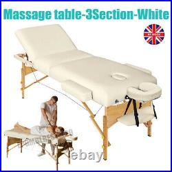 Deluxe Folding Portable Massage Table Bed Beauty Saloon Therapy Couch 3 Section