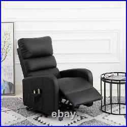 Electric 8-Point Massage Chair Sofa Bed Heating Armchair Gaming Armchair Black