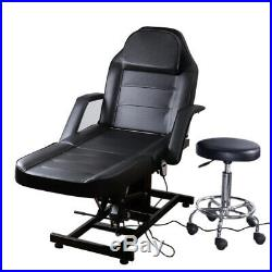 Electric Adjustable Beauty Massage Couch Therapy Chair Bed Tattoo Table with Stool