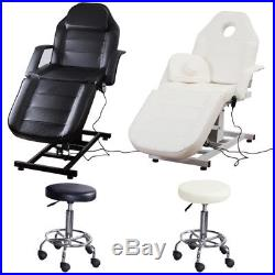 Electric Beauty Salon Bed Massage Table Couch Height Adjustable Chair + UK Plug