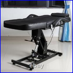 Electric Massage Bed Beauty Salon Tattoo Therapy Table Recling Chair Couch Black
