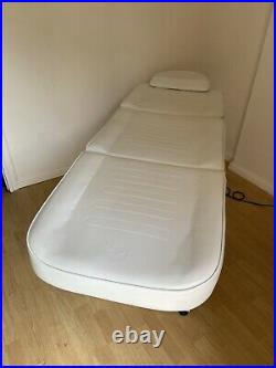 Electric Massage Therapy Couch / Table / Bed / Chair VGC 3 Section, White