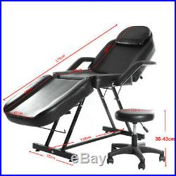 Facial Therapy Massage Beauty Salon Chair Bed Reclining Tattoo Couch WITH STOOL