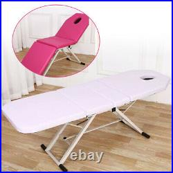 Foldable Beauty Salon Recliner Bed Massage Tattoo Bed Couch SPA Chair Portable