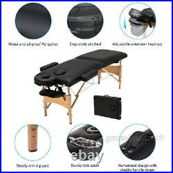 Folding Portable Massage Table Salon Tattoo Beauty Therapy Couch Beauty SPA Bed