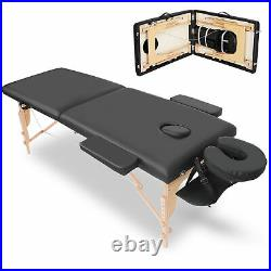Folding Portable Massage Table Therapy Couch Bed Home Salon Spa Adjustable Table