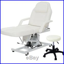 Fully Electric Adjustable Facial Bed Massage Table Hydraulic Therapy Couch Chair