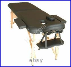 HOMCOM Salon Portable Folding Massage Table Bed Tattoo Therapy Couch 2 Section