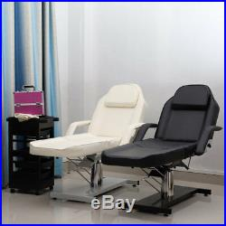 HYDRAULIC Beauty Salon Chair Balance Massage Table Couch Bed Tattoo Chrome Base