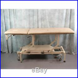 Huntleigh Nesbit Evans 2 section hydraulic treatment medical couch bed
