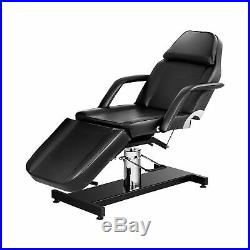 Hydraulic Beauty Bed Massage Table Couch Cosmetics Salon Bed Tattoo Bed Black