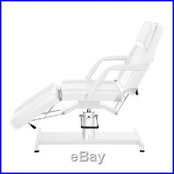 Hydraulic Beauty Bed Massage Table Couch Cosmetics Salon Bed Tattoo Bed White