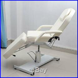 Hydraulic Chair Massage Bed Beauty Salon Facial Couch Tattoo Therapy Table White