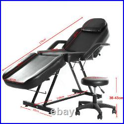Hydraulic Recliner Beauty Chair Therapy Table Spa Bed Massage Couch Tattoo STOOL