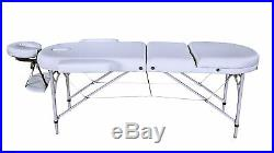 Ivory Alu Lite Portable Massage Table Bed Spa Reiki Couch Beauty Therapy Pad 1